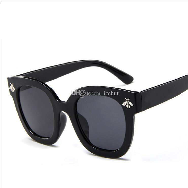 Fashion Square Frame Bee Sunglasses Women Luxury Brand Designer ...