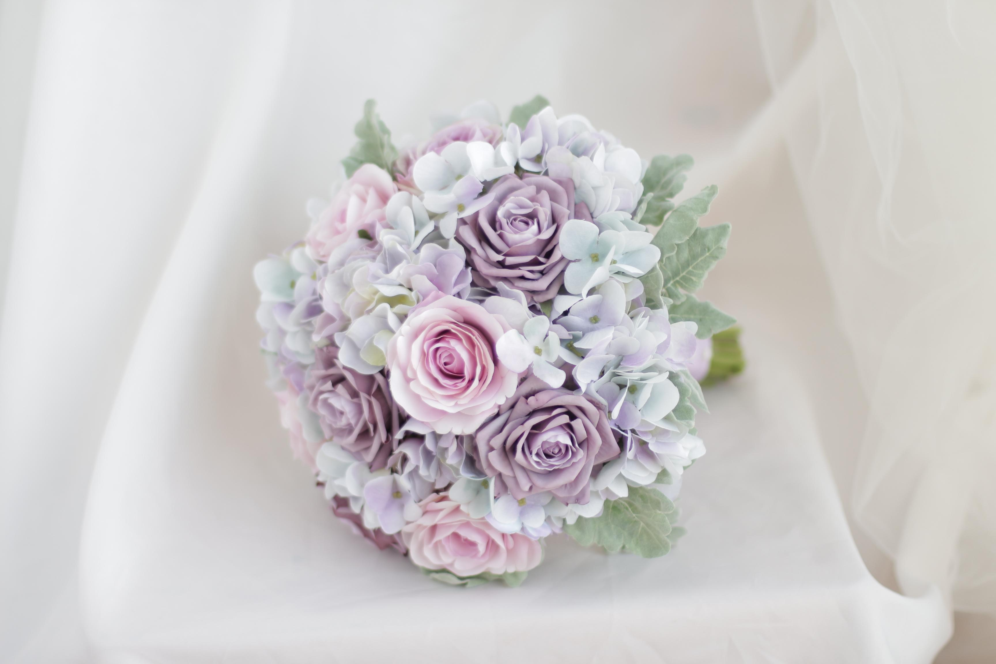 Bridal Bouquet Pink Rose Pink Rose Hydrangea Forest Department Of The Wind  Wedding Bouquet Wedding Flowers Preservation Wedding Flowers West Midlands  From ...