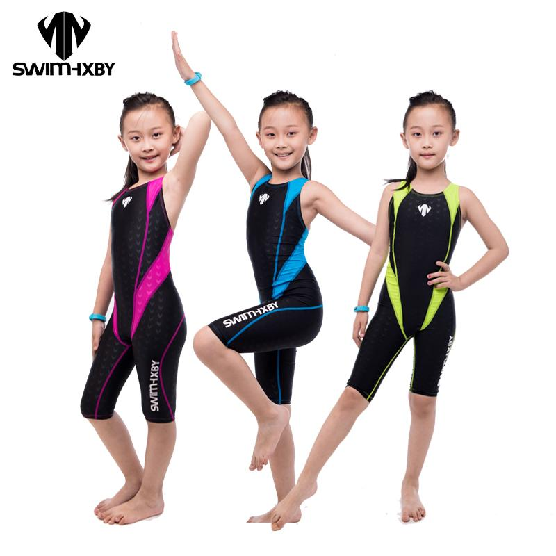 ea7ea4bd38 2019 HXBY Professional Competition Kids Swimsuit For Girls Swimwear Women  One Piece Bathing Suit Women S Swimsuits Swimming Suit From Longmian
