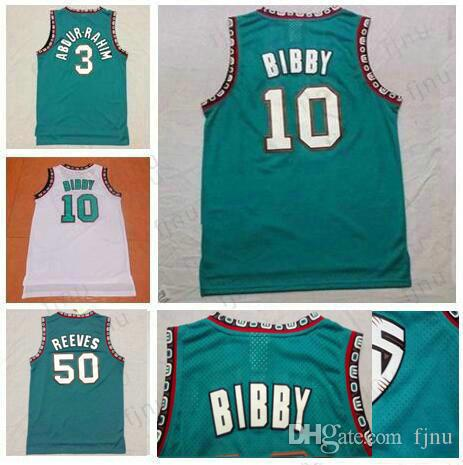 Men s Best Quality  10 Mike Bibby Jersey White Grenn  3 Shareef Abdur-Rahim  Jersey  50 Bryant Reeves Basketball Jersey Shirts Stitched Shareef  Abdur-Rahim ... 12292072b