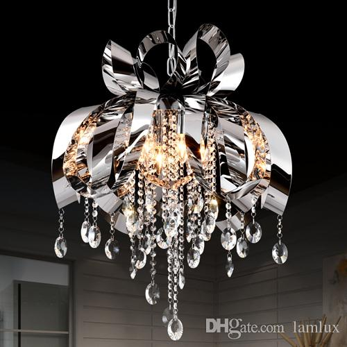 Modern style new design led pendant crystal chandelier lights dining room bedroom pendant light bar club personality led hanging lamps