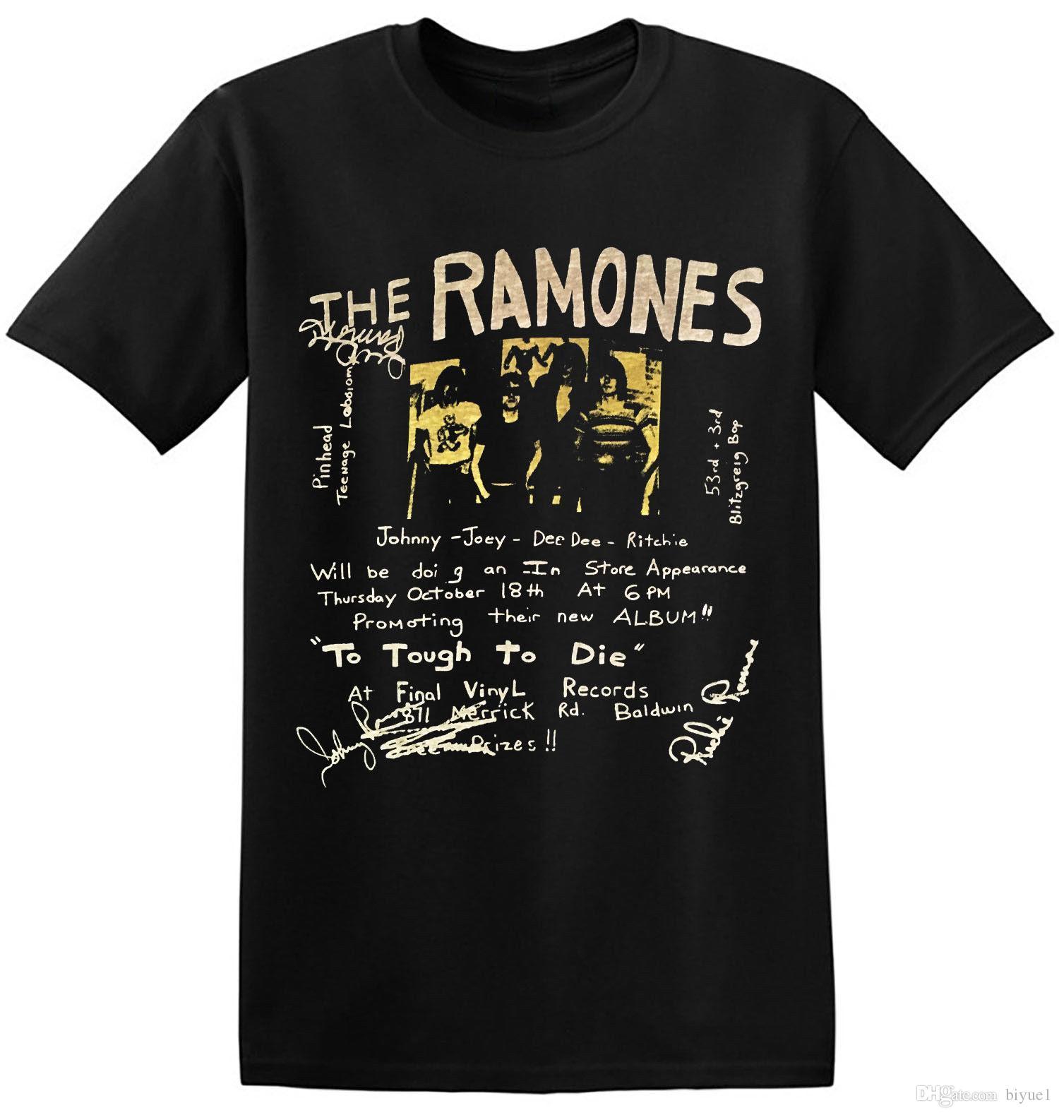 Ramones T Shirt Vintage Classic Rock Band New Graphic Print Tee Shirts  1-A-005