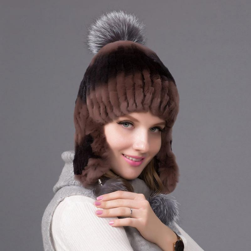 2019 2018 New Autumn And Winter Fur Hat Female Rabbit Fur Head Cap Women s  Silver Fox Lining Suede Knitted Lining Hat THY 07 From Hiramee 799e3a0c114a