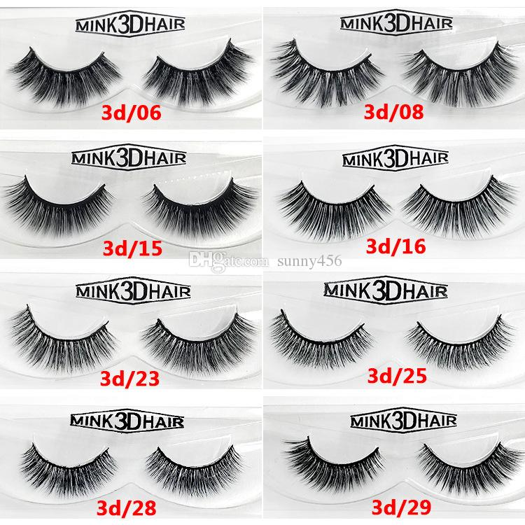 3d Mink Eyelashes Eye Makeup Mink False Lashes Soft Natural Thick