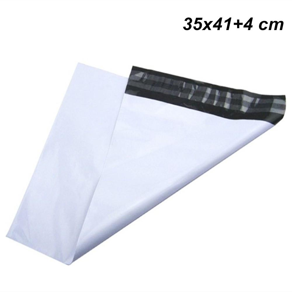 711e9823032e 35x41+4 Cm White Adhesive Poly Plastic Packaging Bag for Shipping ...