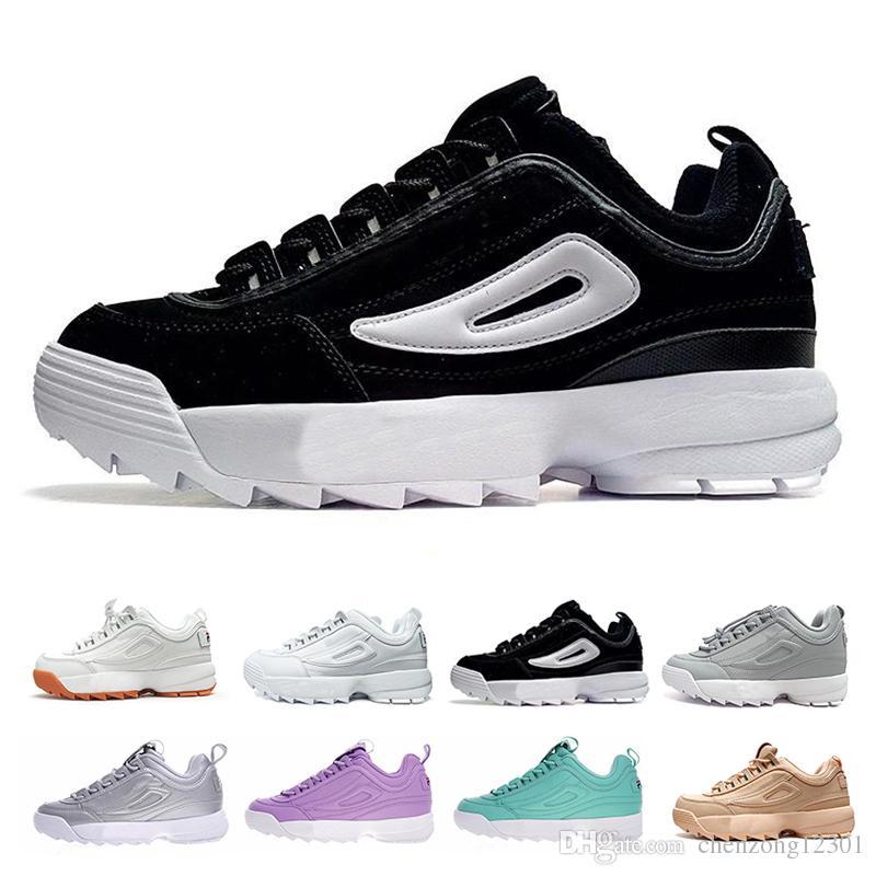 quality design 5baca d335f ... Filas II Chaussures De Course Pour Hommes Femmes FILE Designer De Luxe  Baskets Section Spéciale Sport Baskets Randonnée Jogging Casual 2 S Taille  36 44 ...