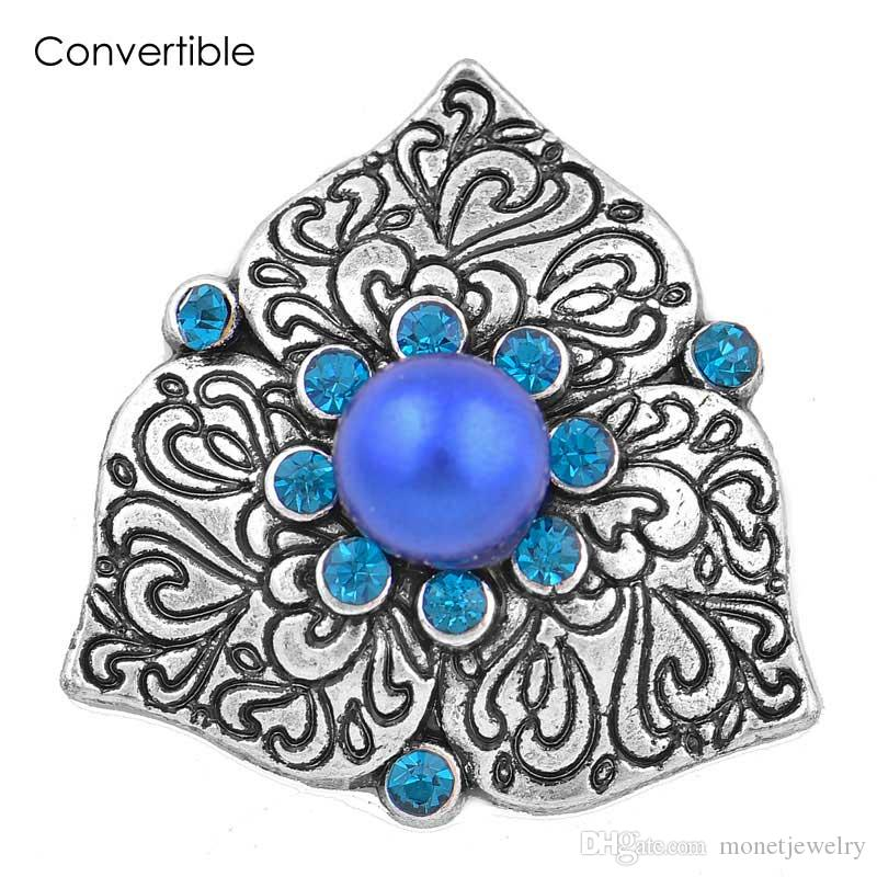 New Elegant Rivca High Quality inserts convertible Pearl Rhinestone alloy magnetic Brooch fit antique Scarf Clip Vintage Muslim pin Brooch