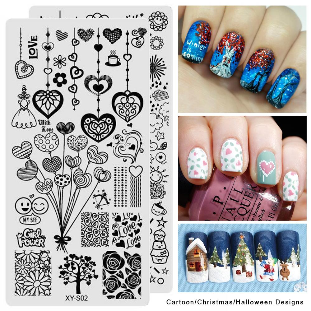 Halloween Christmas Designs Nail Art Stamping Templates Emoji