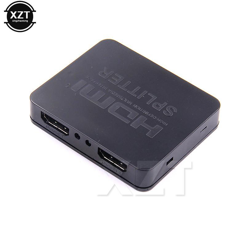 Newest 3D HDMI Splitter 1X2 Split 1 HDMI input to 2 output Suit Full HD  1080p For DVD Player HDTV