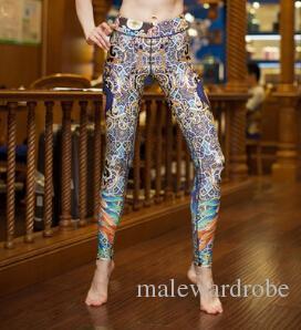 6962b1f07c6548 2019 Peacock Print Leggings Women Autumn Winter Fashion Slim Fit Yoga Leggings  Tights Pants From Malewardrobe, $46.72 | DHgate.Com