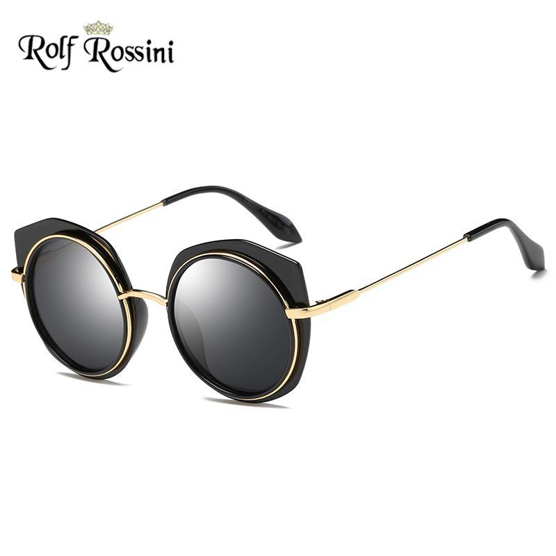 e410b1267c Compre RR Gafas De Sol Redondas Polaroid Mujeres Diseñador De La Marca Gafas  De Sol Para Mujer Espejo Femenino Lente Colorida Ojo De Gato Gafas De Sol  ...