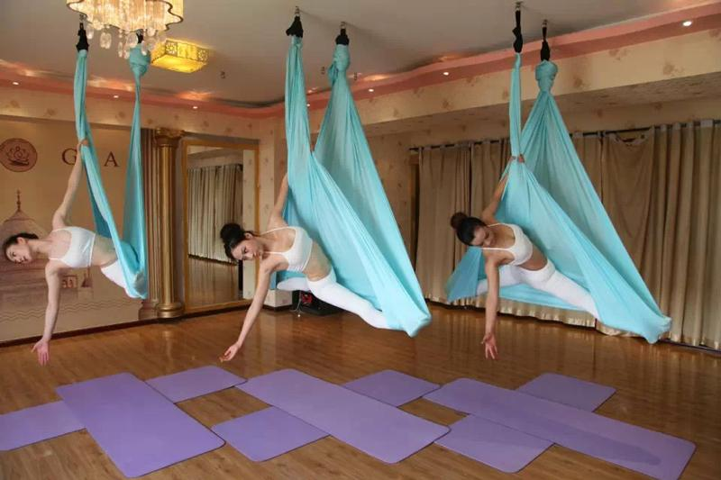 Yontree 5 Meters Elastic Aerial Yoga Hammock Anti Gravity Inversion