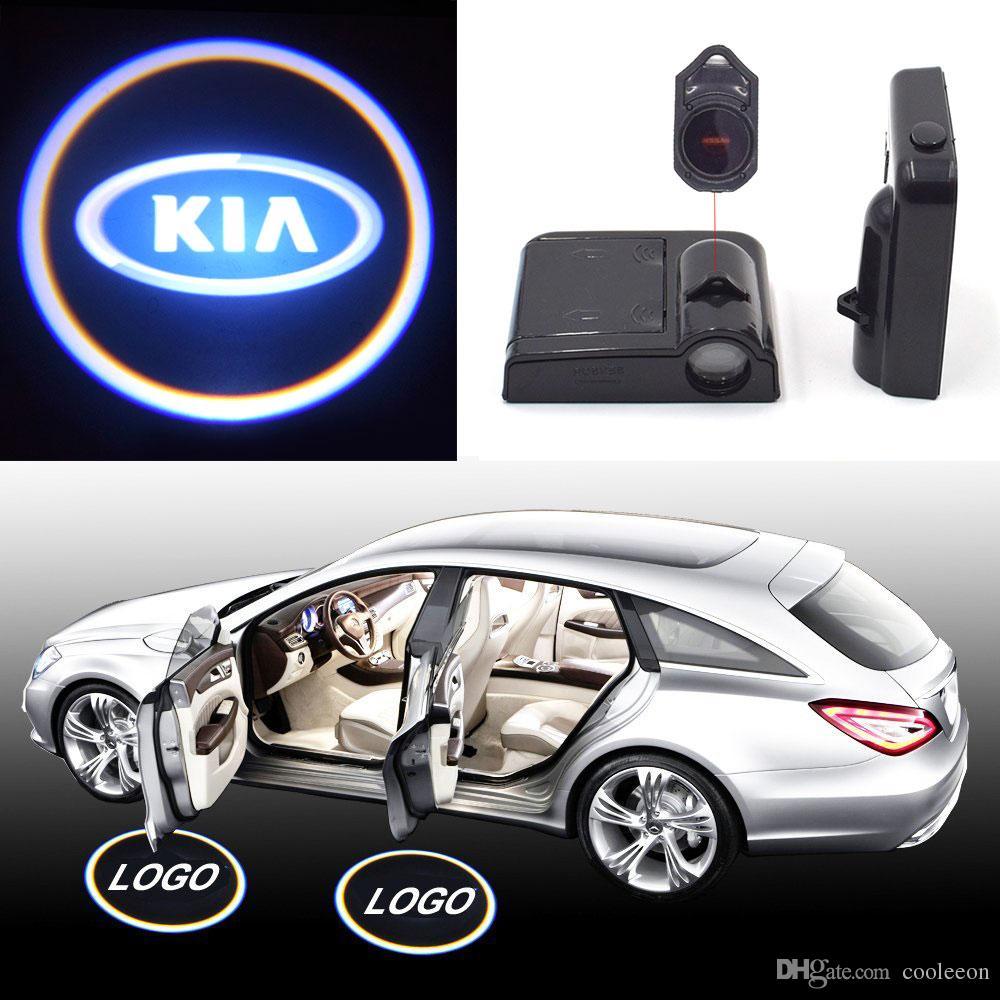 Kia Logo Projector Lamp 3d Led Car Door Welcome Lights Auto Warning