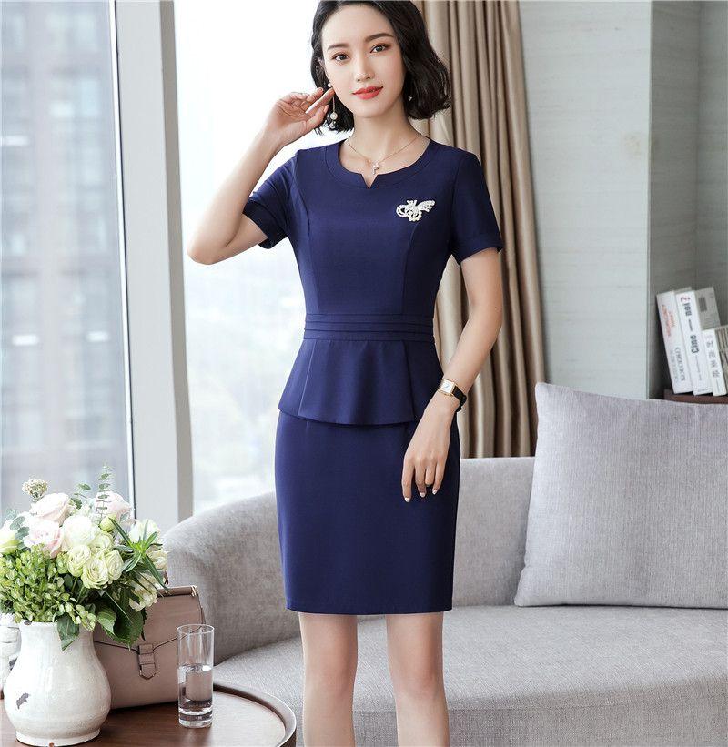5c5534cb7cece Nouvellement Femmes Élégant Travail Peplum Vintage robe Élégante Bureau  Lady À Manches Courtes Ruffle Crayon Vêtements