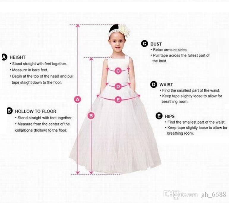 Lovely Flower Girl Dresses Pincess Pageant Bambini Occasioni speciali Compleanno Prom Dress Prestazioni la danza Kids Dress GHYTZ290
