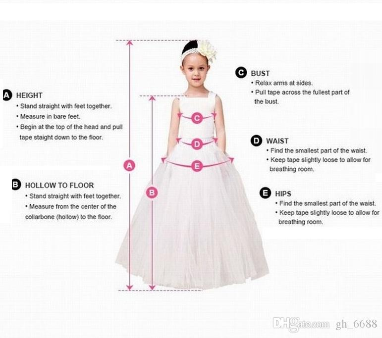New Pincess Pageant Blue Flower Girl Dress Prom Gown Kids Dress Occasioni speciali Abiti bambini Performance GHTZ395