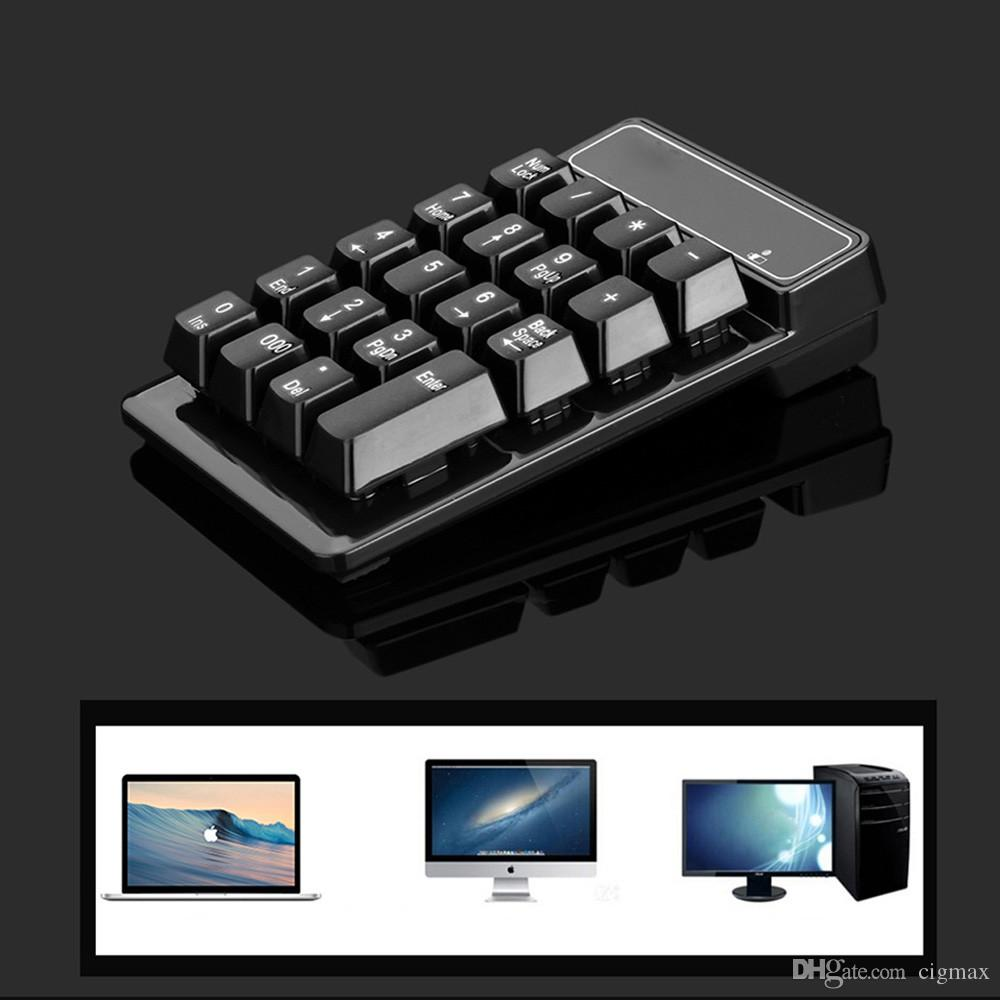 Wireless 19 keys Numeric Keypad mini Keyboard for Mac & Laptop PC Number Pad
