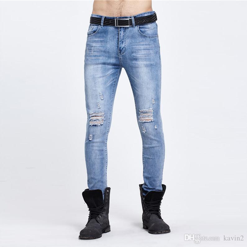 Acheter Micro 2018 Jeans Homme Casual Mode Jeunesse Hot Élastique prWwBrcOq