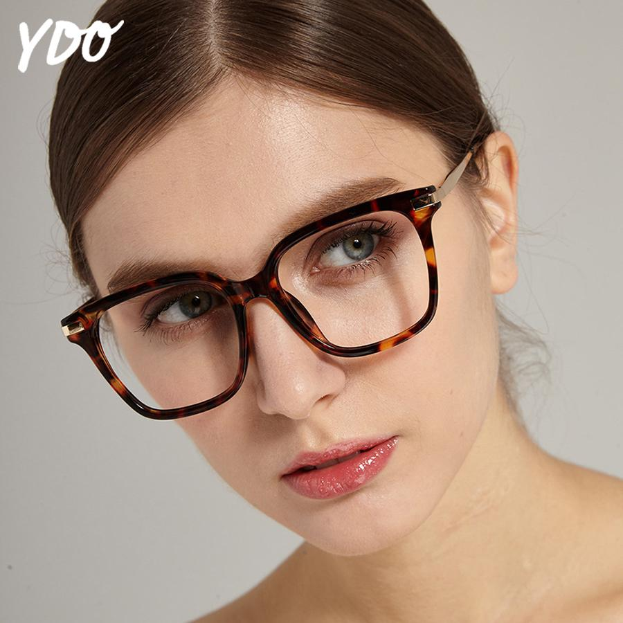 df92a81d9f7 2019 YDO New Square Transparent Glasses Frame Women Fashion Clear Lens  Degree Eyeglasses Optical Frames Reading Computer Spectacles From Kuanbao