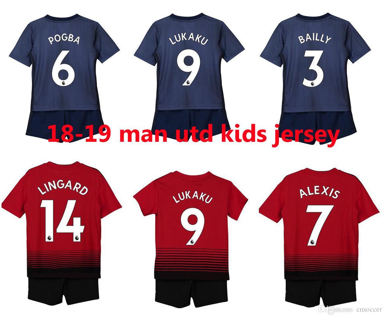 huge discount bc006 ec18c Manchester united kids kit man utd kids soccer jersey Top-qualität 2019  Alexis jugend Mata jersey Kinder Fußball kits Maillot de Fuß vereint set ...