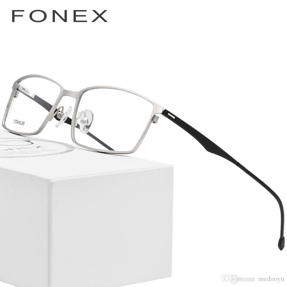 044fa4f7da Titanium Glasses Frame Men Ultralight Myopia Prescription Eyeglasses 2018 Women  Square Full Optical Frame Male Screwless Eyewear 8822 Glasses Frame Men ...