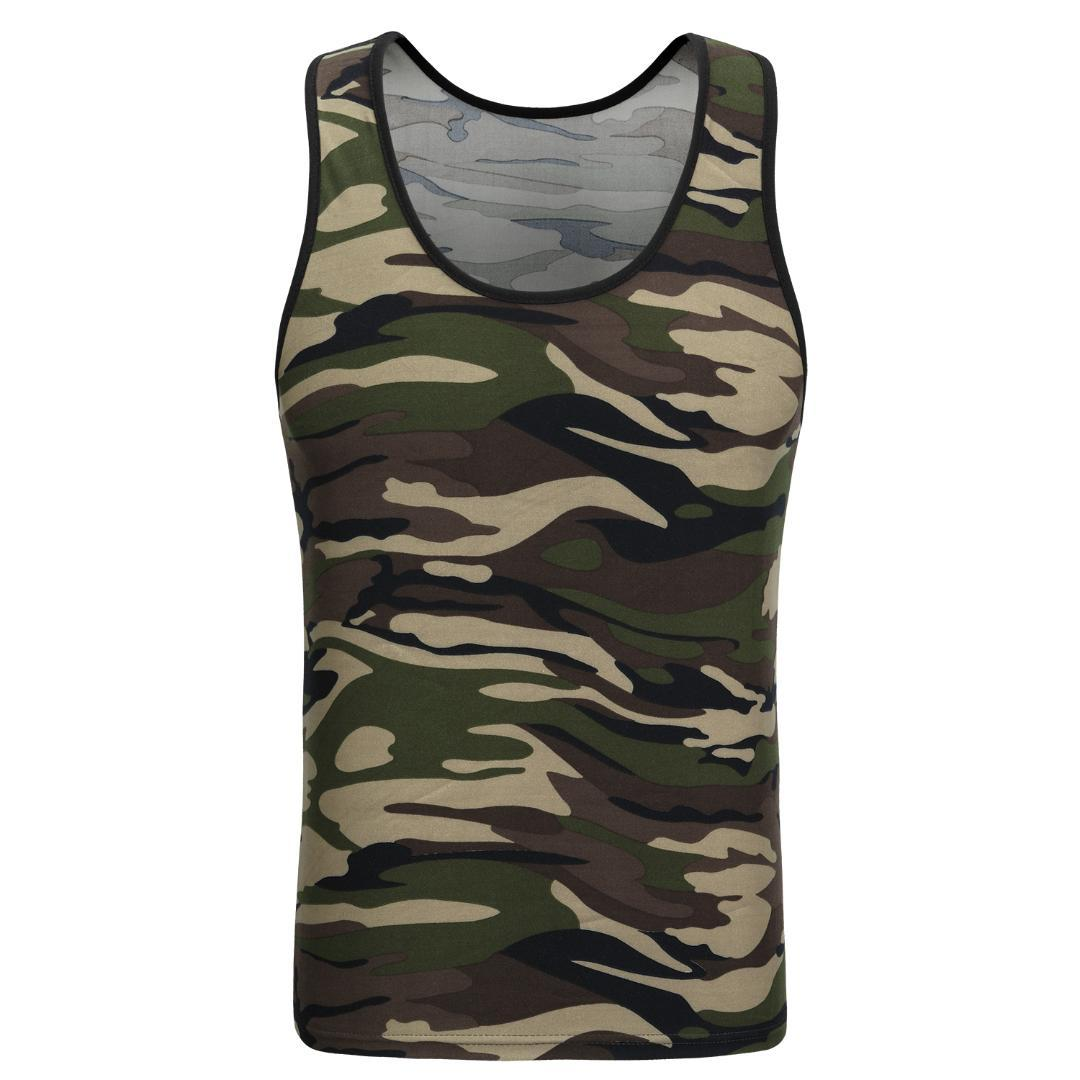 5745707070a2 2019 2018 New Classic Basic Green Tank Tops Women Knit Tops Girls Camis  Casual Vest Sleeveless T Shirt Female Camouflage Vest From Ppkk