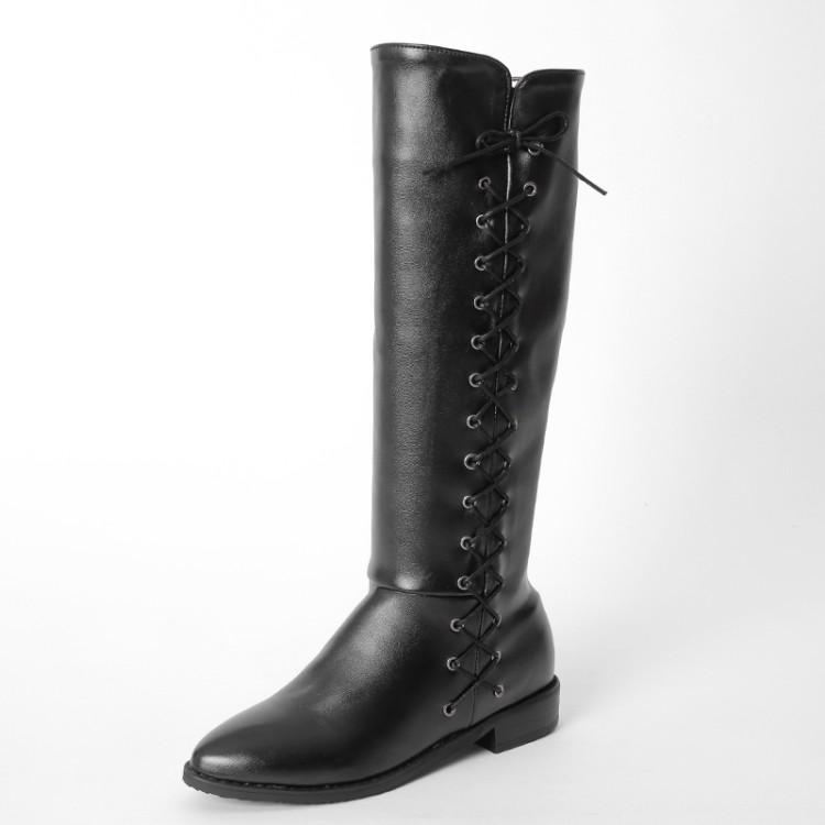 0ee84684265 Winter Boots Botas Mujer Big And Small Size 34 47 Women Shoes Knee High  Boots Round Toe Square Height Increasing Quality 773 Cheap Cowgirl Boots  Mens Dress ...