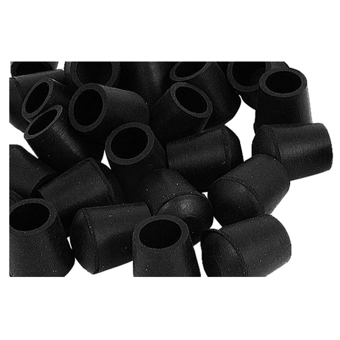 Power Tool Accessories Tools Official Website 10pcs Round Black Rubber Chair Leg Pad Cover 31x24x25mm Furniture Feet Non-slip