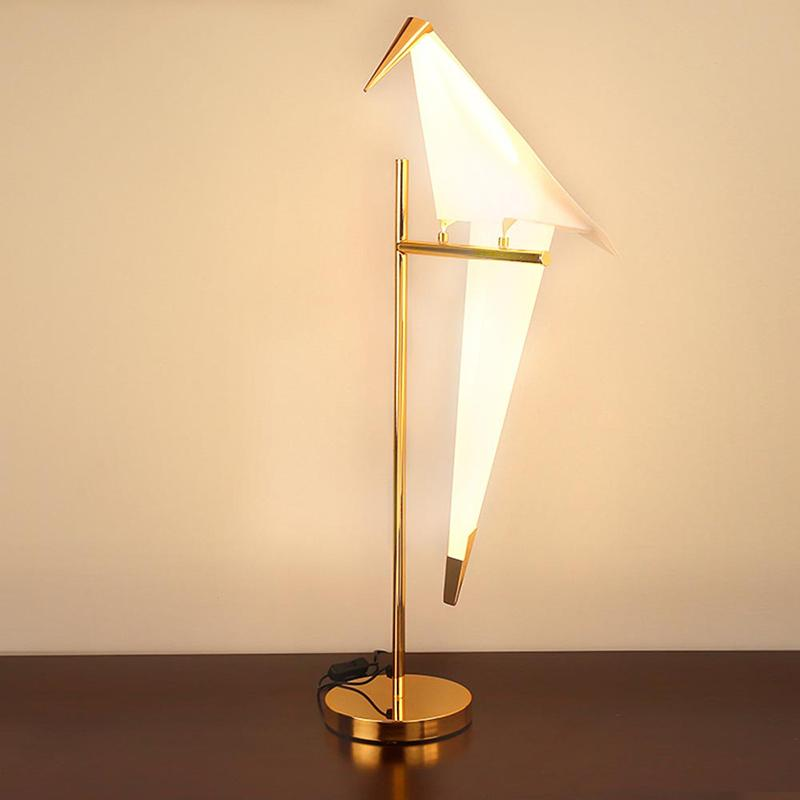 2019 Tz Art Deco Led Bird Table Lamp For Bedroom Modern Brushed Gold