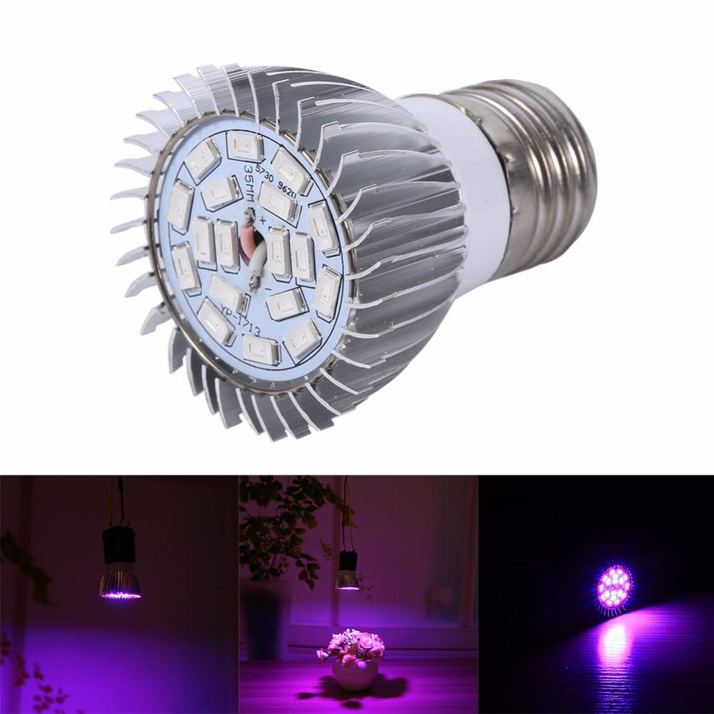 E27 Hydroponics Grow Light Bulb 18w Full Spectrum Led Plant Grow ...