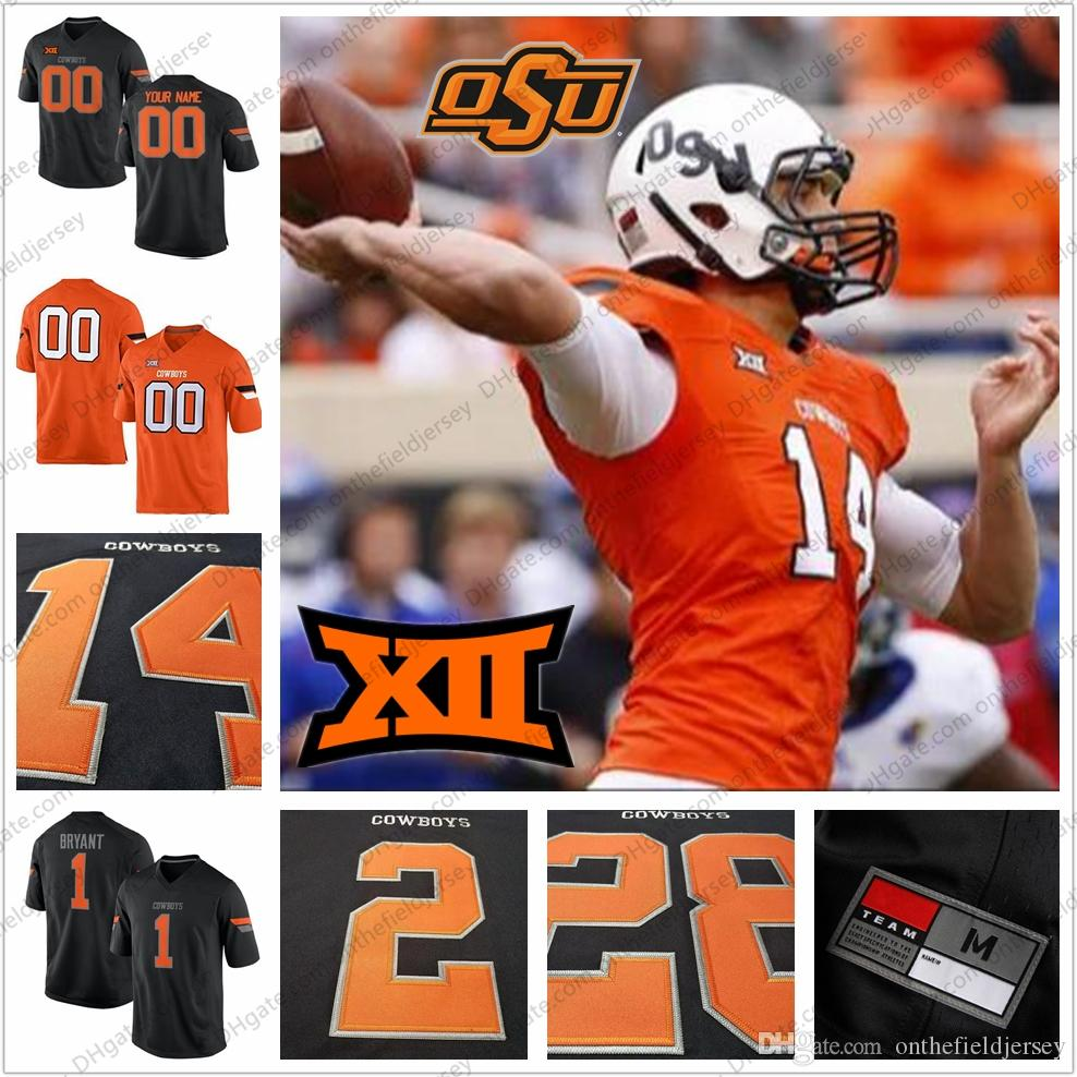 1a6e35f84df 2019 Oklahoma State Cowboys College Football Jersey #14 Taylor Cornelius 11  Keondre Wudtee 6 Dru Brown 3 Spencer Sanders Orange White Black S 3XL From  ...