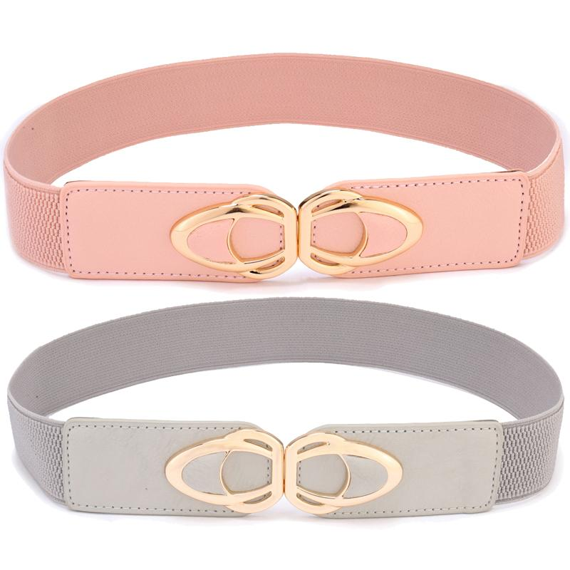 8e14e573ea Women Elastic Stretch Belts Fashion Skinny Cinch Dress Belt Gold Metal  Buckle 2 Pack Women Belt Plus Size Red Belt Fan Belt From Ancient88