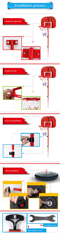 HOT Children Basketball Stand Kids Outdoor Adjustable Basketball Sports Set Kit