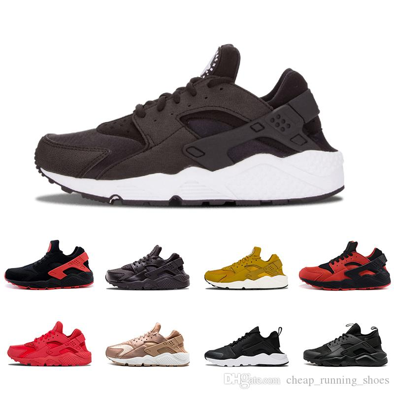 0ce0e5267af9 2018 Huarache Ultra 1.0 4.0 Triple White Black Red Gold Huaraches Shoes Men  Women Sport Sneaker Running Shoes Size 36 45 Neutral Running Shoes Winter  ...