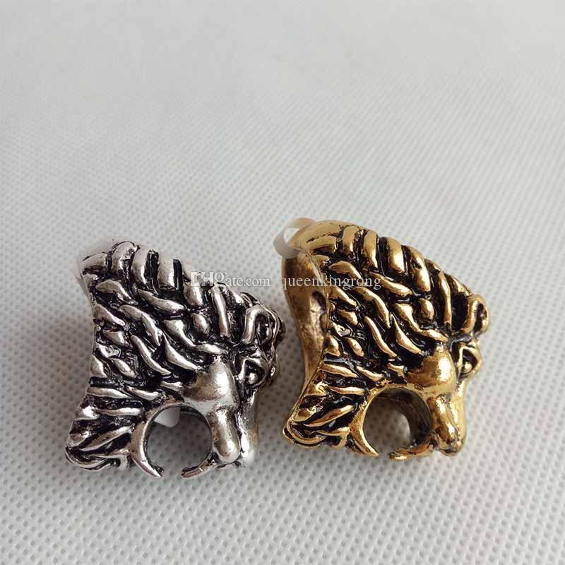 Creative Lion Head Shaped Sigisette Sumport Tobacco Accessori Base Accessori Strumenti di metallo Anelli di metallo impianti di petrolio i