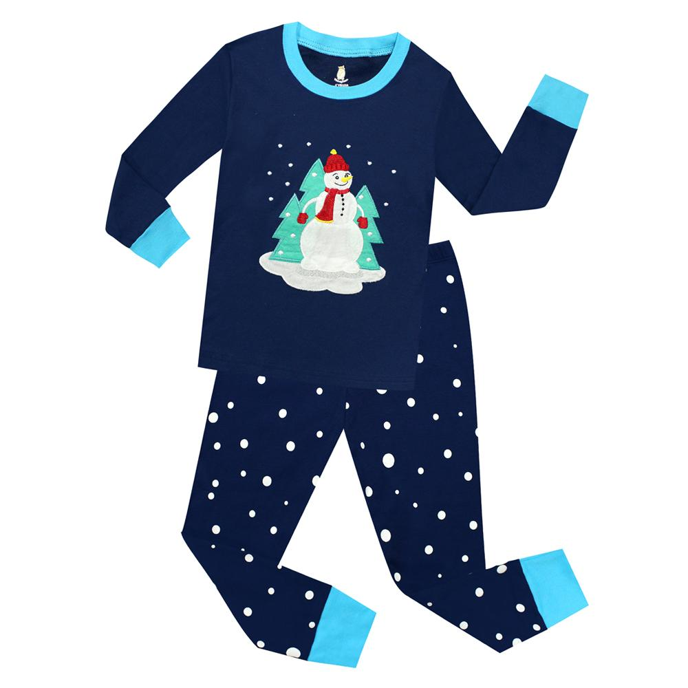 2f436e160d00 2018 New Christmas Snowman Sleepwear For Girls Boys Kids Merry ...
