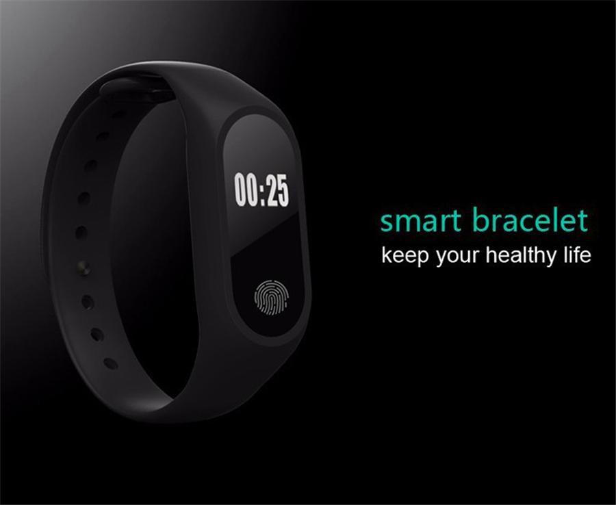 M2 Fitness tracker Watch Smart Band Heart Rate Monitor Activity Tracker Waterproof Smart Bracelet Pedometer Health Wristband With Box