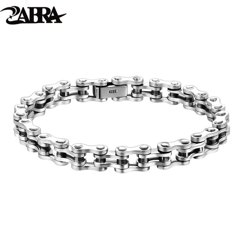 0f573ec09a084c 2019 ZABRA Biker Bracelet Solid 925 Sterling Silver Bracelets Men Link  Chain High Polished Handmade Vintage Punk Jewelry For Female From  Mangosteeni, ...