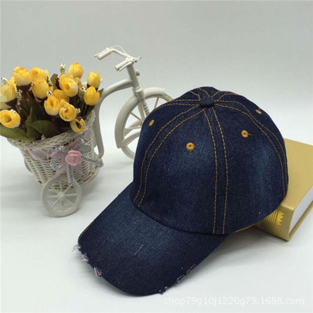 b93f17fe99f Korean Version Wild Cowboy Hat Fashion Tide Casual Hip Hop Women s Baseball  Cap Summer Outdoor Travel Adjustable Sunscreen Hats Flat Bill Hats Baseball  Hat ...