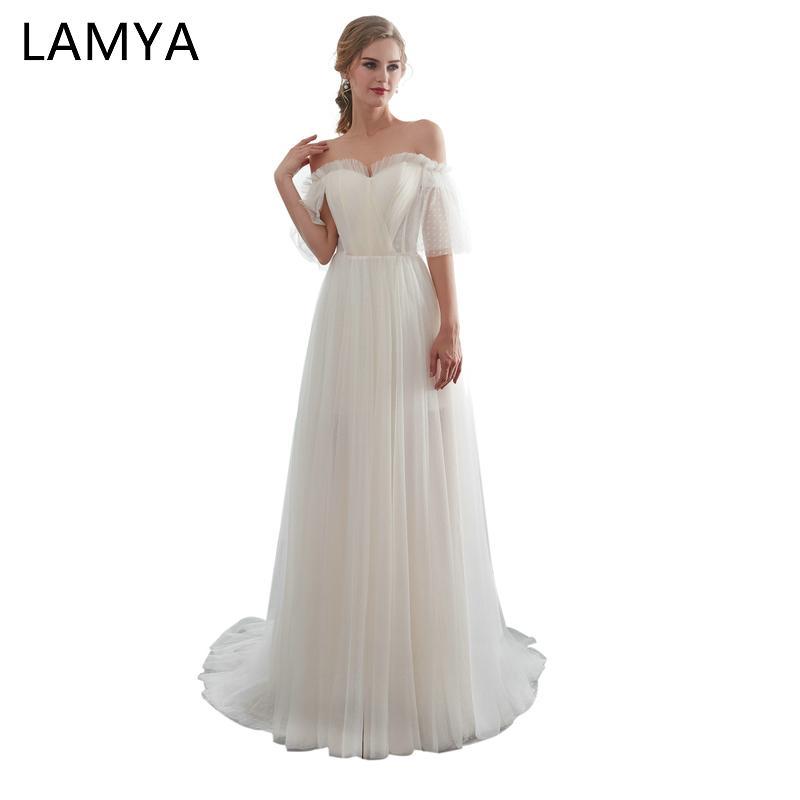b727485b9653 Atacado Gelinlik Vintage Vestidos de Casamento Longo Moda Feminina Elegante  luxuoso Boat Pescoço Vestido de Festa vestidos de novia