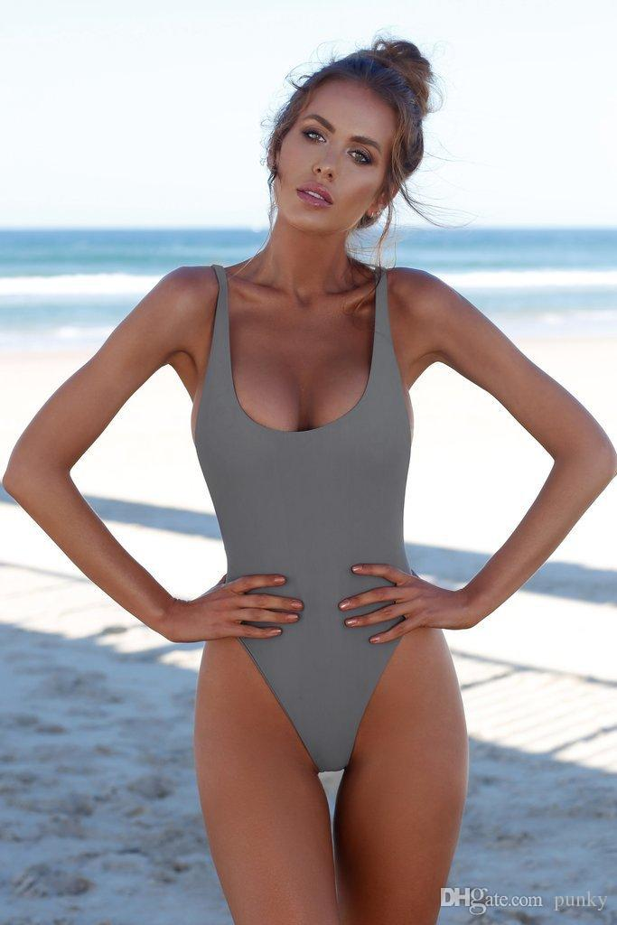 44c0227d95 2018 Newest Arrival Backless One Piece Swimsuit Black Womens Sexy Swimwear  New Swimming Bathing Suits High Cut Ladies Bikini Online with  5.72 Piece  on ...