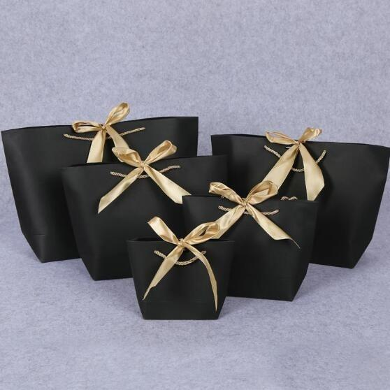 2019 Romantic Black Gift Bag Elegant Luxury Wedding Decoration