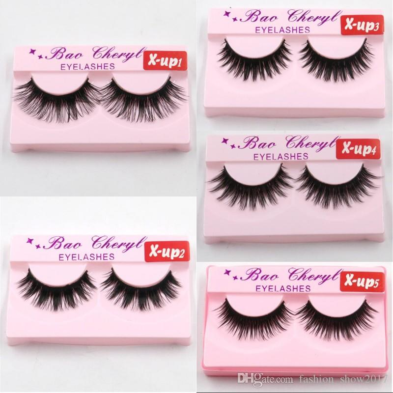 Hot X-up 3D Strip Mink Lashes Natural Thick Handmade False Fake Eyelashes Eye Lashes Makeup Extension