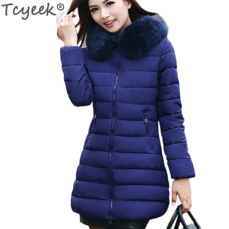 Neue S-2XL Winter Frauen Jacke Mode Lange Schlanke Hooded Zipper Feste mit Tasche 2018 Warme Weibliche Casaco Süße Farbe