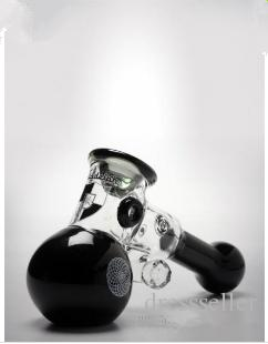Cute White Black Mini Handhold Hammer Glass Pipes Thick Glass Design handle Spoon Bubbler Smoking Pipe For Dry Herb Sherlock Style Cheap