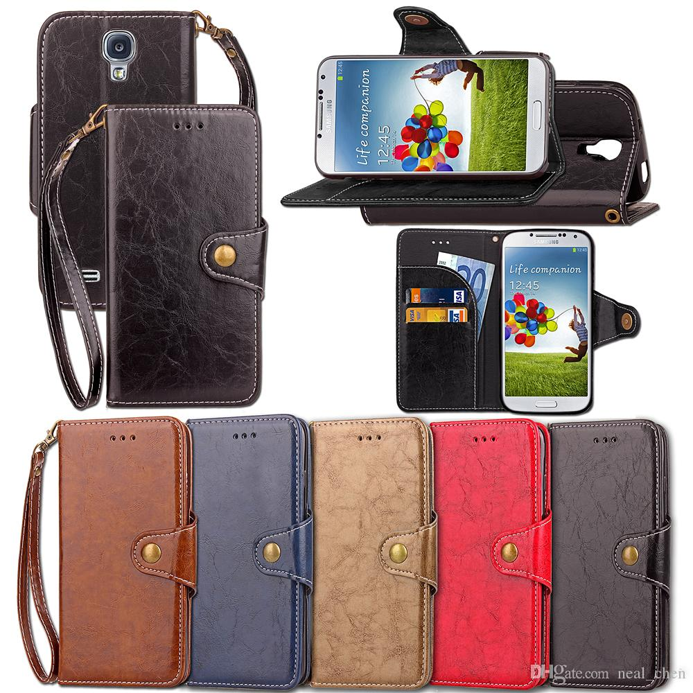 best website 49b31 bf962 PU Leather Flip Fold Wallet Case with ID Credit Card Slot for Samsung  Galaxy S3 S4 S5 Mini