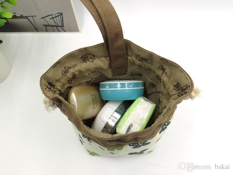 La borsa di arte del panno della signora zero porta la borsa di tela di canapa portatile del piccolo sacchetto cosmetico.
