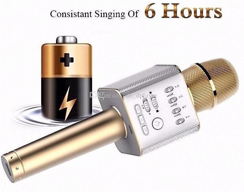 Magic bluetooth Mikrofon Lautsprecher Q9 Karaoke singen Aufnahme Player KTV drahtlose portable Mikrofon Fabrik Direktverkauf