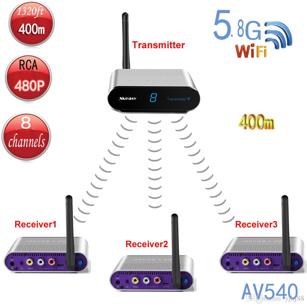 Measy Av540 3 1x3 Wireless Tv Transmitter Receiver Up To 400 M Infrared Remote Control Transmitters 1320 Ft Av And Receivers Online With