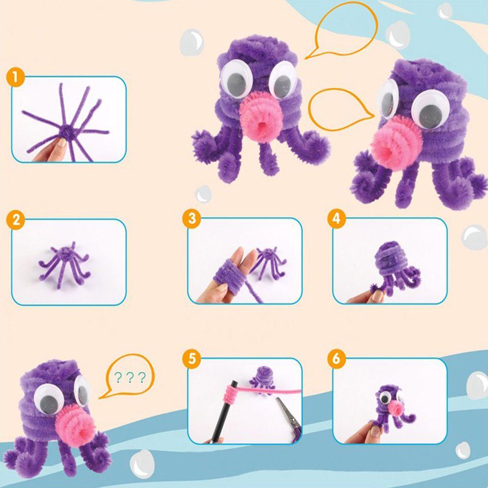 Peluche Bastone Bambini Giocattolo Educativo Animali FAI DA TE Puzzle Morbidi Giocattoli Peluche Bastone Artigianato Fatto A Mano Artigianato Natale